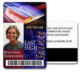 High School Student School ID Card