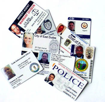 Law Enforcement Identification ID Cards