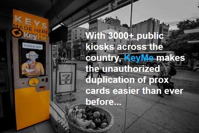 KeyMe Kiosk Duplicates Prox Cards